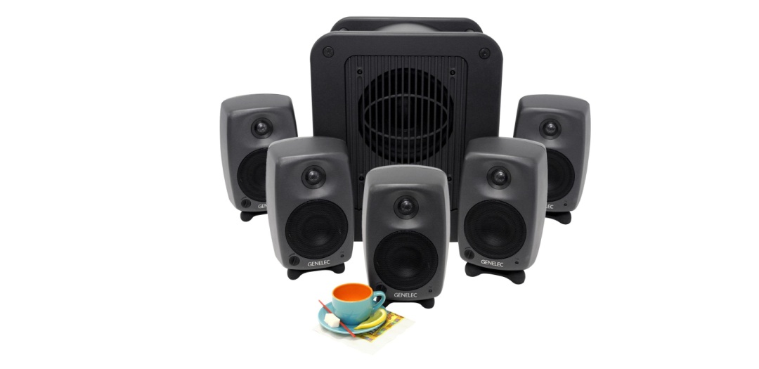 Genelec 8020C + 7050B desktop monitoring