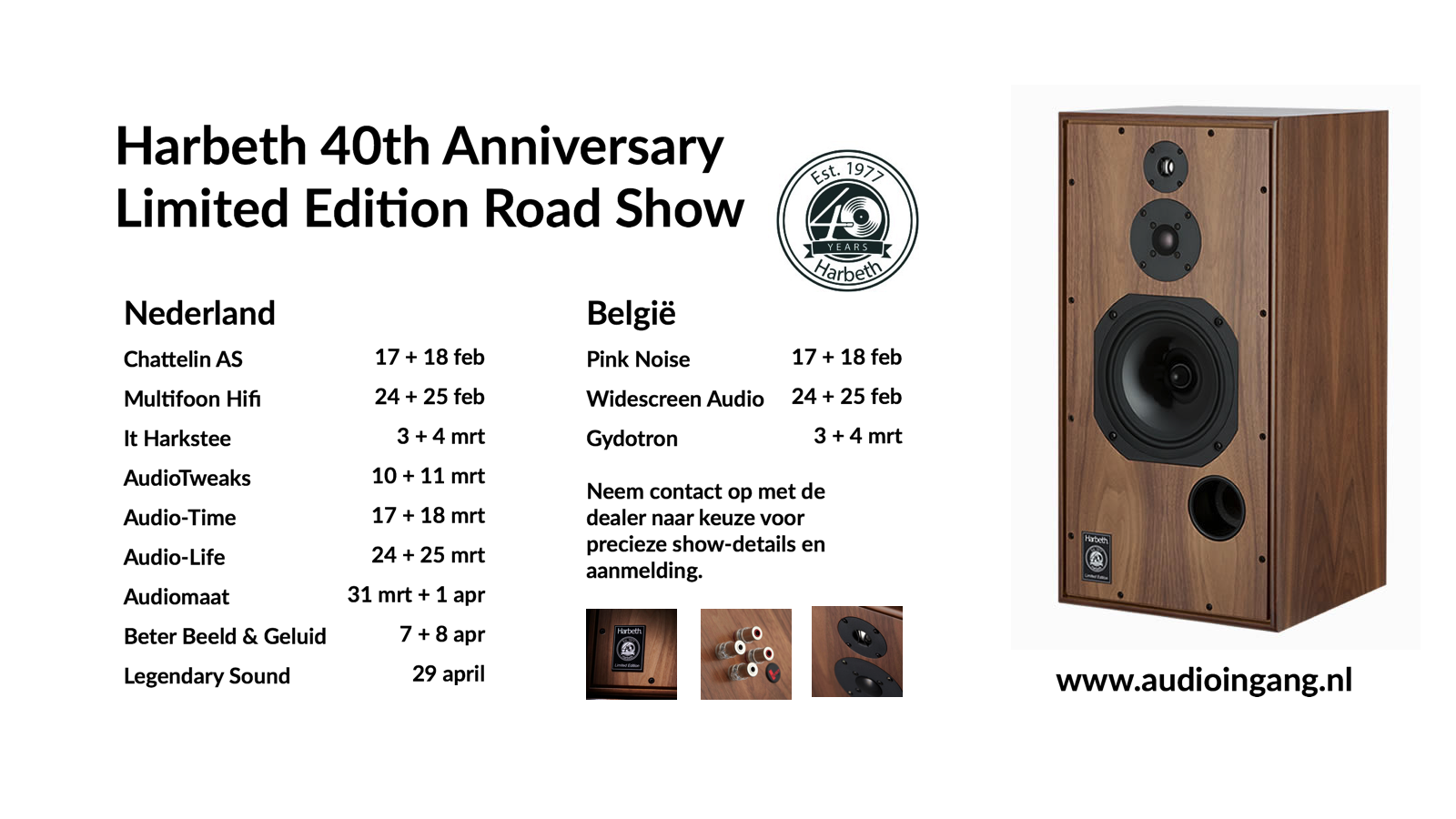 harbeth 40th anniversary roadshow