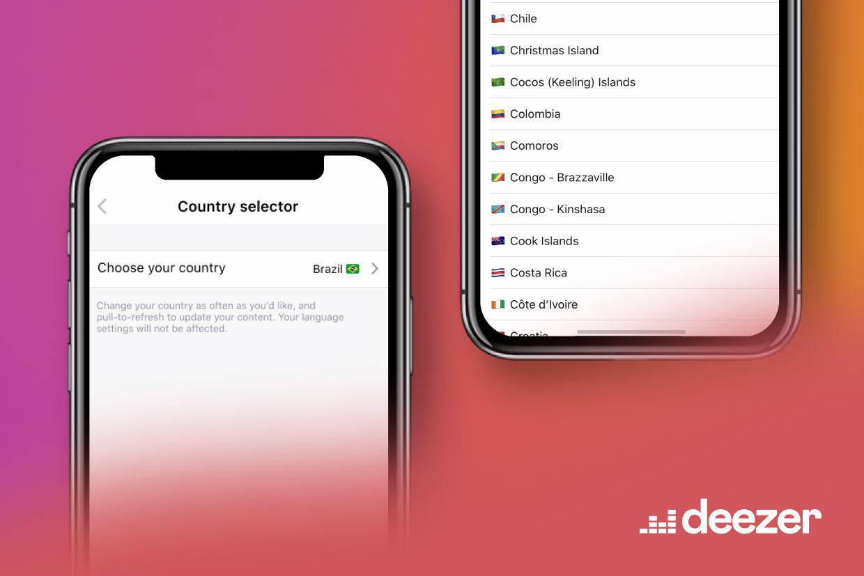 Deezer Country Selector